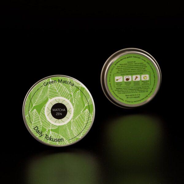 Чай зеленая матча Токусен в железной банке